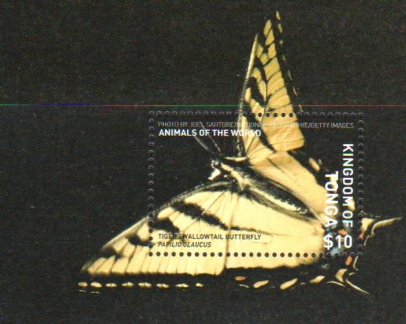 TONGA (2019)- Butterfly Souvenir Sheet