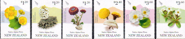 NEW ZEALAND (2019)- ALPINE FLORA (6v)