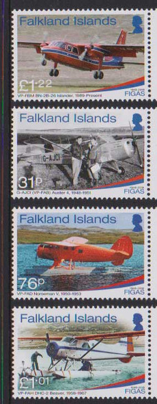 FALKLAND ISLANDS (2019)- 70TH ANNIVERSARY AVIATION (4v)
