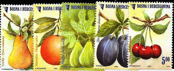 BOSNIA  (2005) FRUIT(5v)