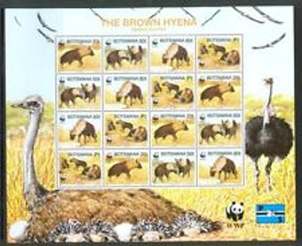 BOTSWANA (1995) Brown Hyena WWF FULL Sheet