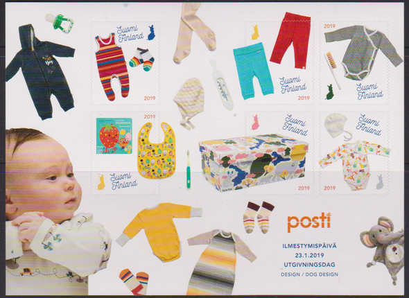 FINLAND (2019)- BABY BOX SHEET (Unusual)