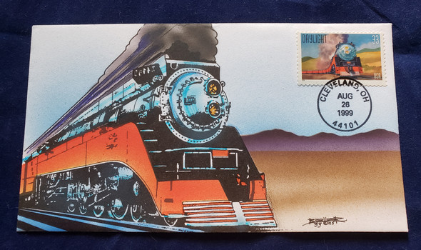 US 1999 RAILROAD FDC Hand Painted BELLER EXCELLENT