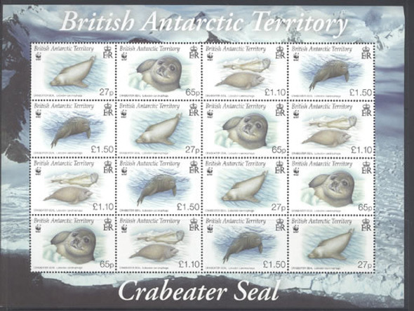 BR. ANTARCTIC TERR.- WWF Crabeater Seal- m/s of 4 sets
