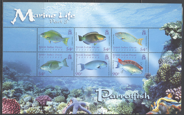 BR. INDIAN OCEAN- Marine Life Sheetlet of 6 (Part III)- fish- co