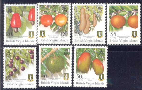 BR. VIRGIN ISLANDS (2004) Fruit Definitives-7 values