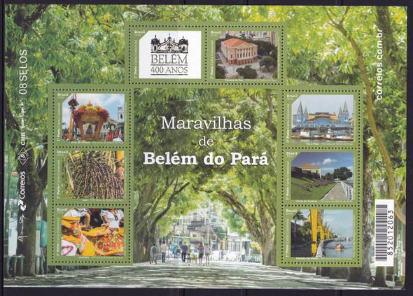 BRAZI (2016)L- Belem do Para- Sheet of 8- architecture- costumes- landscape