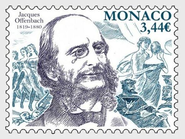 MONACO (2019)- Jacques Offenbach  (Opera Composer) Bicentenary