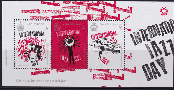 SAN MARINO (2016)- JAZZ FESTIVAL MUSIC SHEET OF 4v