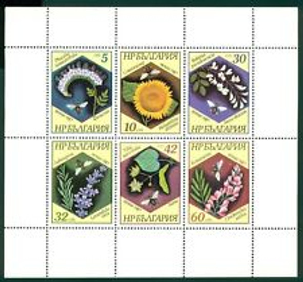 BULGARIA (1987) Flower Sheet