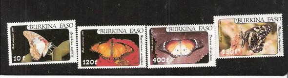 BURKINA FASO (1984)- BUTTERFLIES (Air Mails) -4v