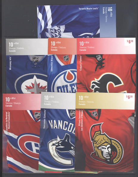 CANADA (2013) - NHL Logos Booklets (7)- Players