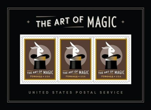 US (2018)- Art of Magic 3v Souvenir Sheet- Moving Holograms!