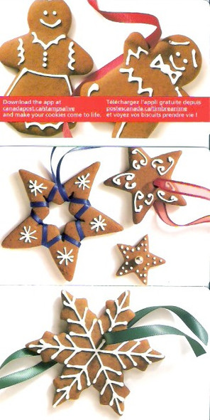 CANADA- Christmas Cookies 2012 Booklets- self-adhesive (3)