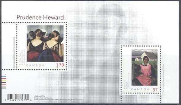 CANADA- Prudence Heward- souvenir sheet- Sheet of 2