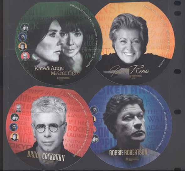 CANADA- Recording Artists Booklets (4)