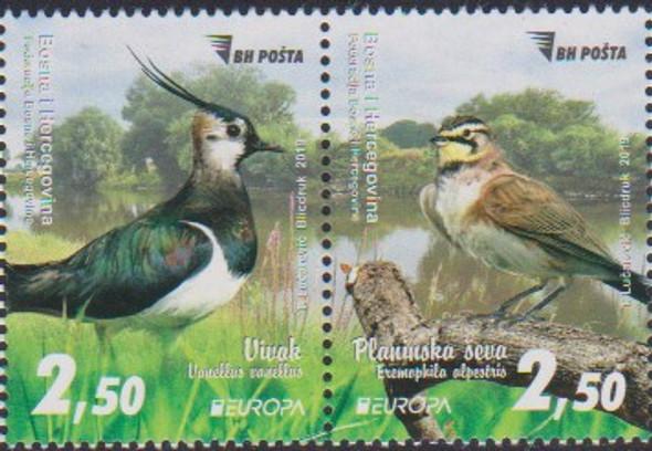 BOSNIA (2019)- EUROPA- NATIONAL BIRDS (2v)