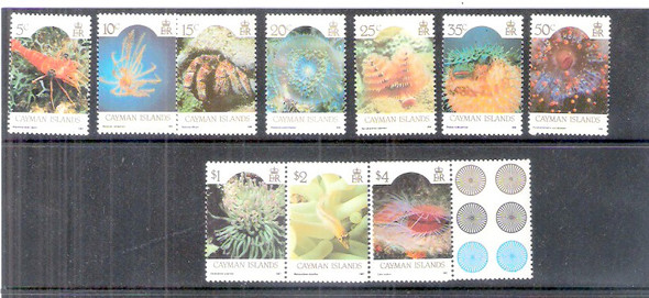 CAYMAN ISLANDS (1986)- Marine Life Definitives (10 values)-
