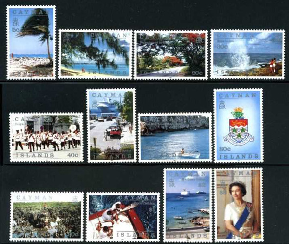 CAYMAN ISLANDS (1991)  Island Scenes- Definitives- Sailing- Poli