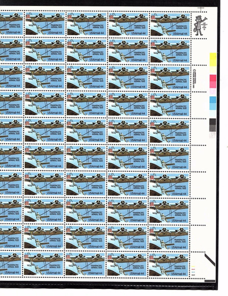 6 US AIRMAIL 25c-44c COMPLETE MINT SHEETS- BELOW FV!