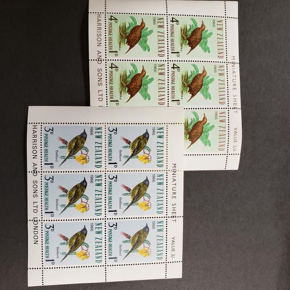 NEW ZEALAND (1966 ) Health Sheets Birds (2)