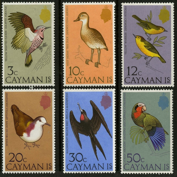 Cayman Islands 1975 Scott #354-359 MNH Set- BIRDS