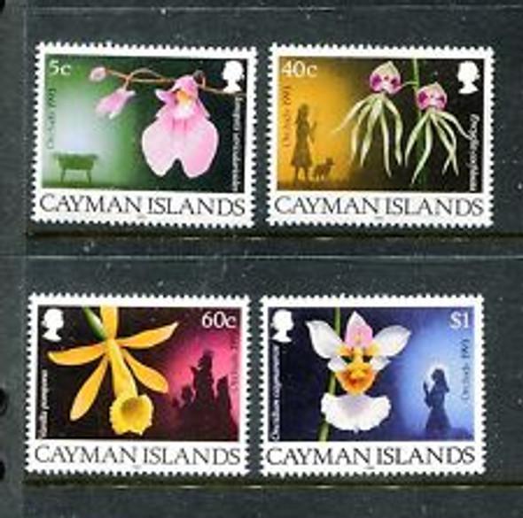 CAYMAN ISLANDS 1993 ORCHIDS (4v)