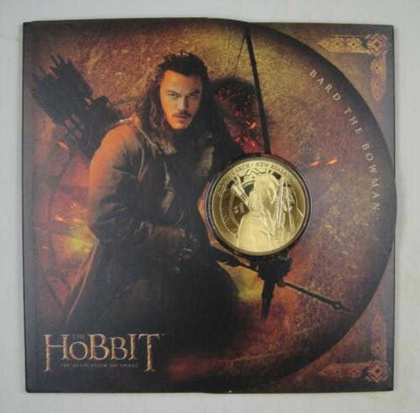 "New Zealand- $1 Uncirculated Gold Coin- ""The Hobbit"" w/Presentation Folder"