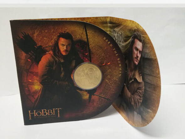 "New Zealand- $1 Uncirculated Gold Coin- ""The Hobbit"" w/Presentation Folder"
