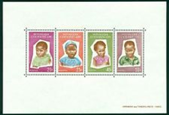 CENTRAL AFRICA REPUBLIC (1964) Heads of Children Sheet