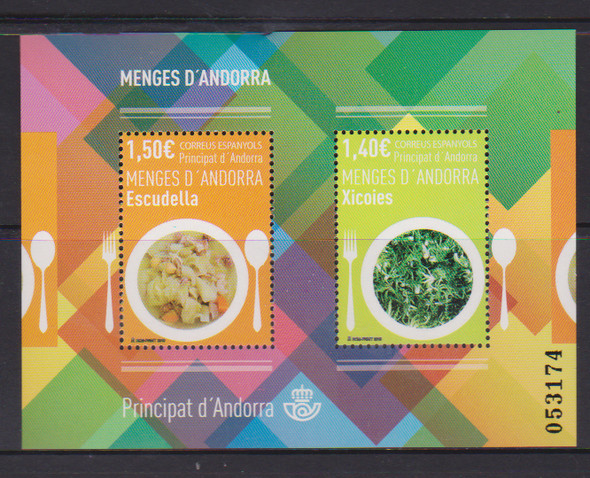 SPANISH ANDORRA (2019)- GASTRONOMY (Cooked Meals) Sheet