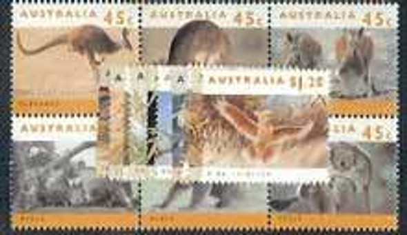 AUSTRALIA (1992)- ANIMALS , Endangered Species (17 values)
