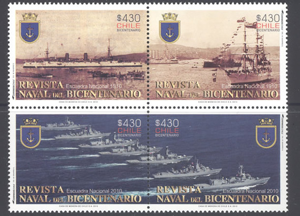 CHILE- Bicentennial Naval Review- mini-sheet of 8 sets