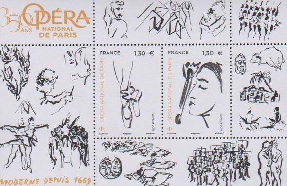 FRANCE (2019)- PARIS OPERA ANNIVERSARY SHEET