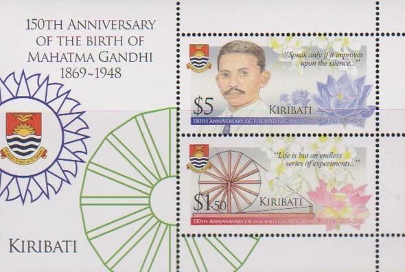 KIRIBATI (2019)- GANDHI ANNIVERSARY SHEET OF 2v