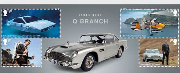 GR. BRITAIN (2020)- JAMES BOND MINI-SHEET- Q BRANCH GADGETS!