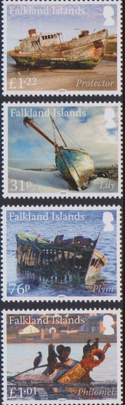 FALKLAND ISLANDS (2020)- SHIP WRECKS (PARTS III & IV)- 8v