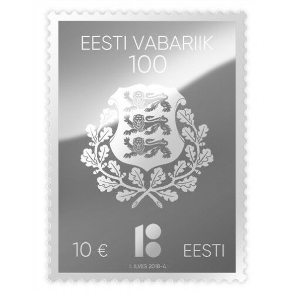 ESTONIA (2018)- SILVER STAMP FOR 100 YEAR CENTENARY