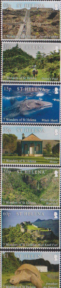 ST. HELENA (2020)- 7 WONDERS- WHALE SHARK,TORTOISE, ETC. (7V)