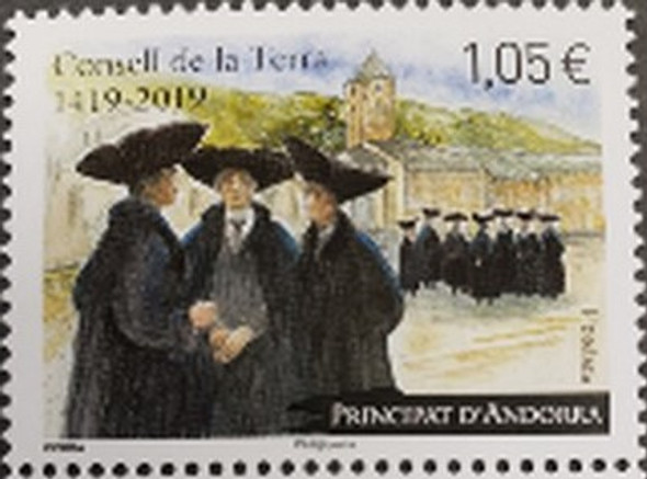 FRENCH ANDORRA (2019) Council of Land 60th Anniversary (1v)
