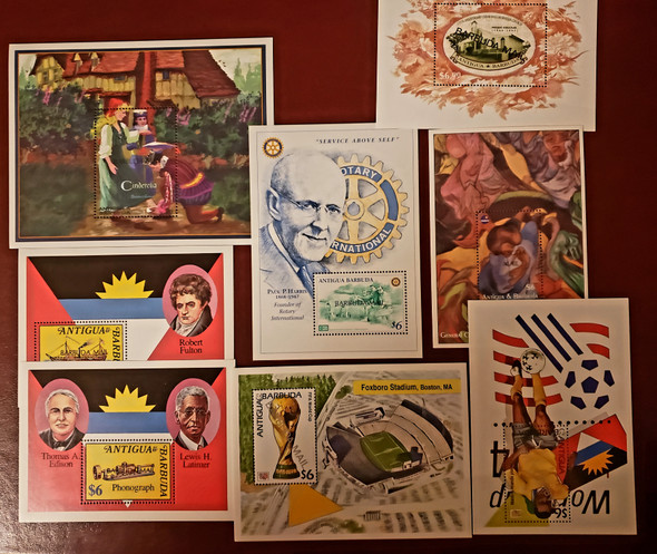 BARBUDA Older Souvenir Sheet High SCV$300+