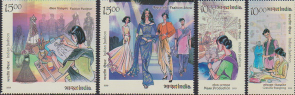 INDIA (2020)- LARGE FASHION SHEET #3-  (Sheet + 4v)