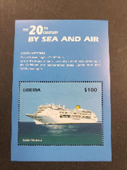 LIBERIA (2001) Souvenir Sheet By Sea and Air