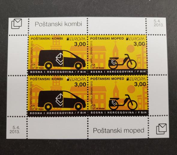 BOSNIA CROATIA (2013) Europa Block Moped Car Sheet