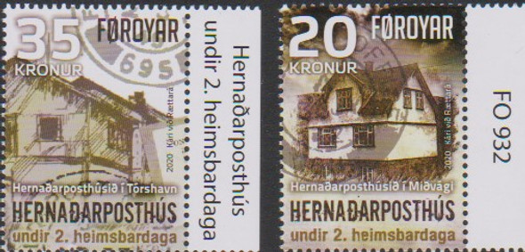 FAROE ISLAND (2020)- WWII WARTIME FIELD POST OFFICES (2v & SHEET)