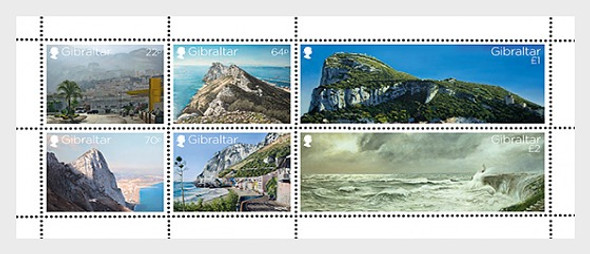 GIBRALTAR (2018)- VIEWS OF THE ROCK SHEET & 6v (LIGHTHOUSE)