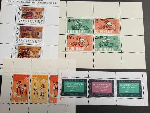 SURINAME Collection of 46 Souvenir Sheets Original Retail $184