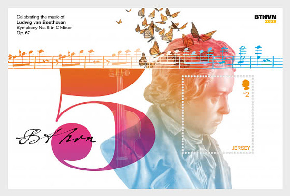 JERSEY  (2020)- BEETHOVEN ANNIVERSARY (6v+ s.s.)