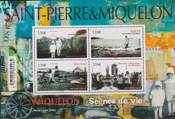 ST. PIERRE (2020)- Old Photographs Sheet of 4v