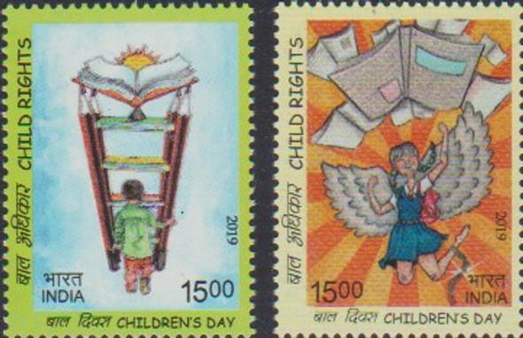 INDIA (2019)- Children's Rights - 2v & Sheet